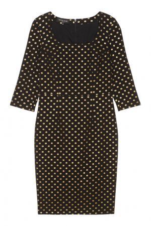 Платье в горох Viva Vox. Цвет: черный
