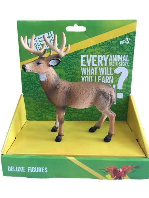 Фигурка Mojo (Animal Planet) в индивидуальной упаковке - Белохвостый олень (L). Цвет: светло-коричневый, белый, темно-бежевый