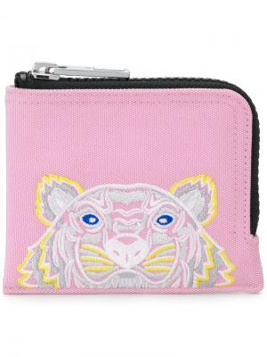 Кошелек на молнии Tiger Kenzo. Цвет: розовый и фиолетовый
