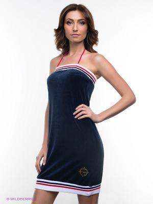 Платье NicClub. Цвет: темно-синий, белый