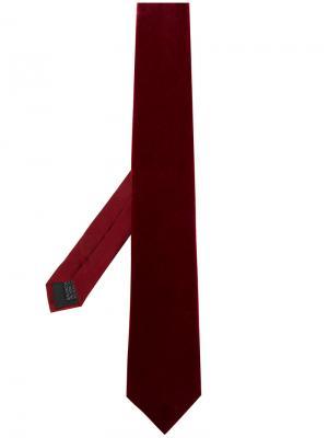 Классический атласный галстук Lanvin. Цвет: красный