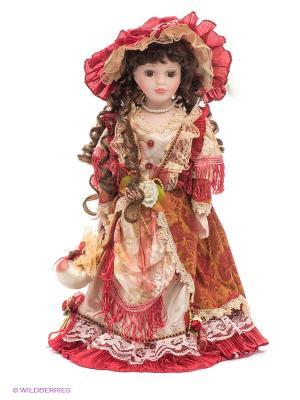 Кукла фарфоровая Лаура Lisa Jane. Цвет: бледно-розовый, красный, бежевый