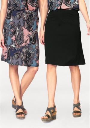 Юбка, 2 штуки BOYSENS BOYSEN'S. Цвет: розовый/синий с рисунком+черный