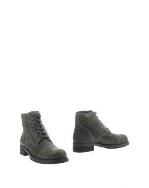 Полусапоги и высокие ботинки DEL GATTO. Цвет: темно-зеленый