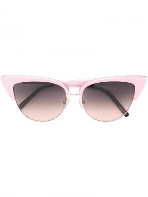 Солнцезащитные очки в оправе кошачий глаз Matthew Williamson. Цвет: розовый и фиолетовый