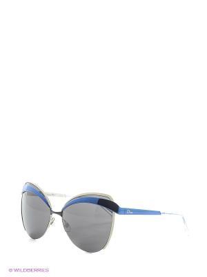 Солнцезащитные очки CHRISTIAN DIOR. Цвет: черный, синий