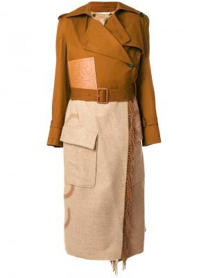 Пальто-тренч Blanket Loewe. Цвет: коричневый