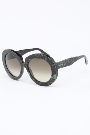 Очки солнцезащитные Valentino. Цвет: малахитовый