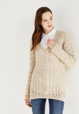 Пуловер Gluen. Цвет: бежевый