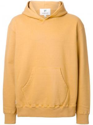 Толстовка с капюшоном Hbns. Цвет: жёлтый и оранжевый
