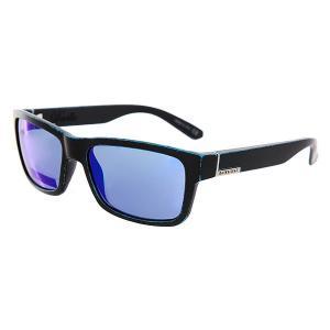 Очки  Deville Matte Black-worn Blue Quiksilver. Цвет: черный,голубой