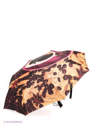 Зонт Flioraj. Цвет: коричневый, розовый