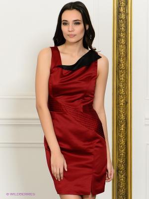 Платье NikiBiki. Цвет: бордовый