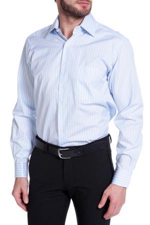 Рубашка Dormeuil. Цвет: голубой, белый