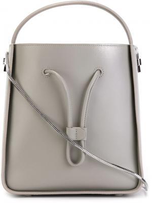 Маленькая сумка Soleil 3.1 Phillip Lim. Цвет: серый