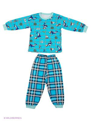 Пижама Babycollection. Цвет: бирюзовый