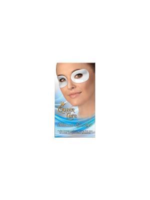 Набор гидрогелевых лифтинг масок для губ и глаз из натурального морского коллагена Queen Care. Цвет: белый