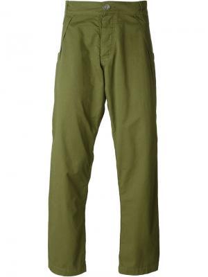 Повседневные брюки Telfar. Цвет: зелёный