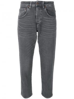 Укороченные зауженные джинсы 6397. Цвет: серый