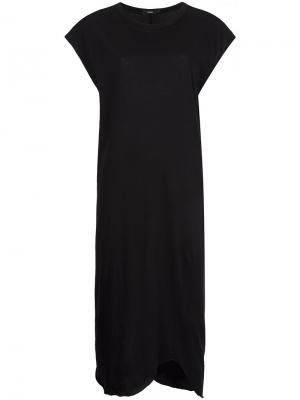 Прямое платье Bassike. Цвет: чёрный