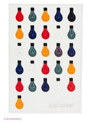 Обложка для паспорта Mitya Veselkov. Цвет: белый, синий, красный, оранжевый