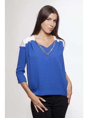 Блузка Gaudi. Цвет: белый, синий