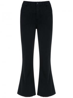 Wide leg cropped trousers Osklen. Цвет: чёрный