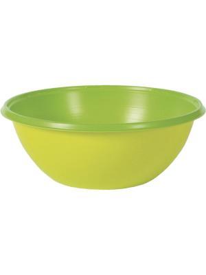Тарелка пластиковая COLORIX, 380 мл, Зеленый, 10шт. DUNI. Цвет: салатовый