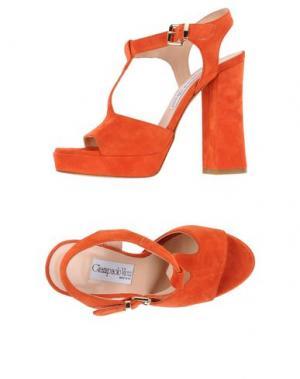 Сандалии GIAMPAOLO VIOZZI. Цвет: оранжевый