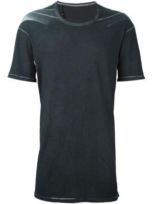 Удлиненная футболка 11 By Boris Bidjan Saberi. Цвет: серый