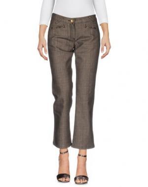 Джинсовые брюки HUSKY. Цвет: темно-коричневый