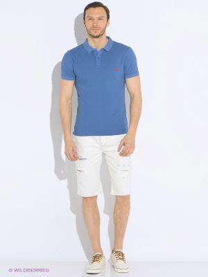 Футболка-поло Staff. Цвет: голубой