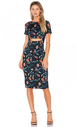 Миди-платье с вырезами SUNO. Цвет: черный
