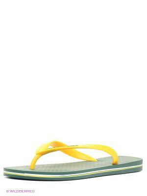 Шлепанцы Ipanema. Цвет: желтый, зеленый