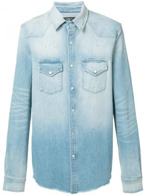 Джинсовая рубашка Amiri. Цвет: синий