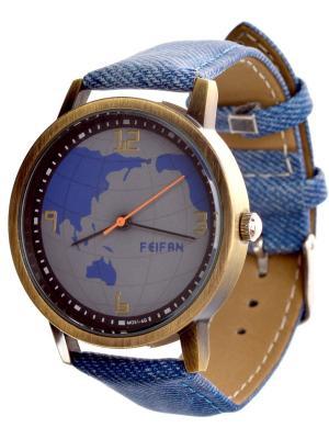 Часы наручные Feifan. Серия World. Feifan. Цвет: синий