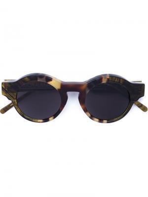 Солнцезащитные очки Mask K9 Kuboraum. Цвет: коричневый