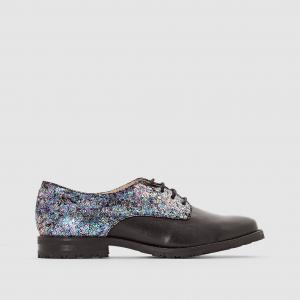Ботинки дерби кожаные с люрексом Arima MELLOW YELLOW. Цвет: черный