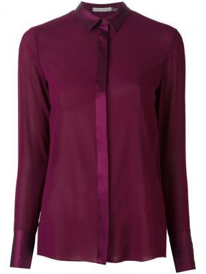 Полупрозрачная блузка Alice+Olivia. Цвет: розовый и фиолетовый