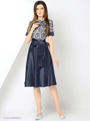 Платье с кружевным верхом и юбкой из тяжелого атласа RIJJINI