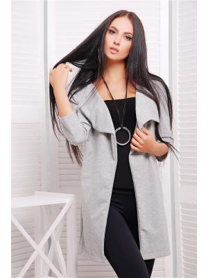 Кардиган Fashion Up. Цвет: серый меланж