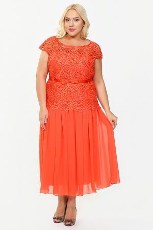 Платье Lia Mara. Цвет: морковный