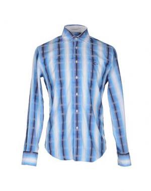 Pубашка CARLO CHIONNA. Цвет: лазурный
