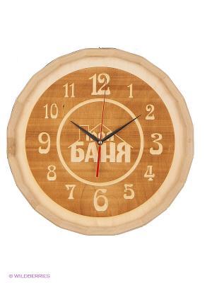 Часы для бани бондар Метиз. Цвет: желтый