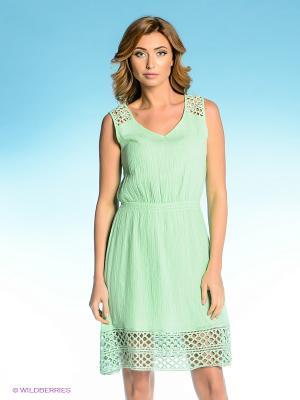 Платье Vilatte. Цвет: светло-зеленый