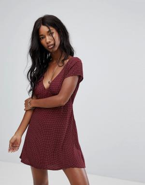 Zulu and Zephyr Пляжное платье &. Цвет: красный