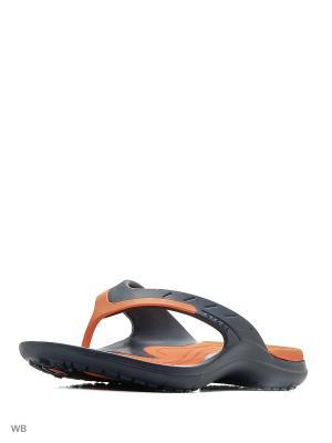 Шлепанцы CROCS. Цвет: темно-синий, оранжевый