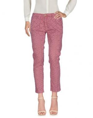 Повседневные брюки MONOCROM. Цвет: пастельно-розовый