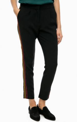 Черные зауженные брюки b.young. Цвет: черный