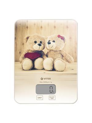 Кухонные весы Vitek VT-8025(MC). Цвет: светло-бежевый